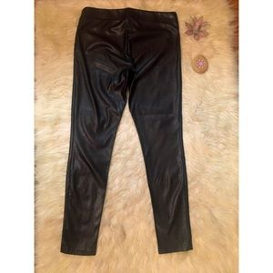 GAP Pants - Gap Black Faux Leather Skinny Ankle Leggings